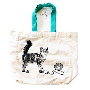 Handbags - Canvas cat tote